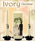 Personalised Wedding Candles.