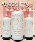 Wedding Set 9inch & 6inch Pillars