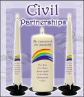 Civil Partnership Candles