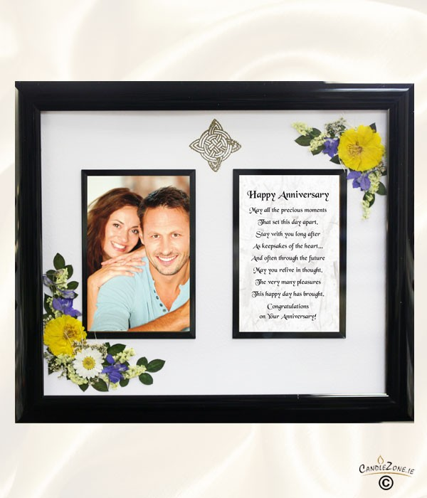 pics photos happy anniversary photo frame with the red dahlias for