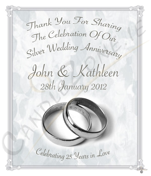 Candlezone Ie 25th Wedding Anniversary Favour Silver
