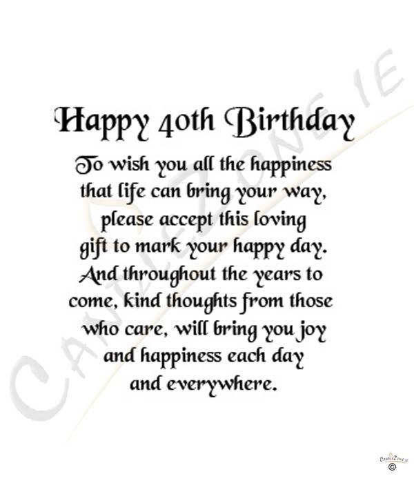 40th birthday speech samples This free 40th birthday speech should ...