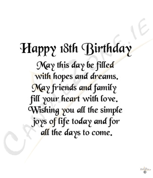 18th birthday quotes for him quotesgram