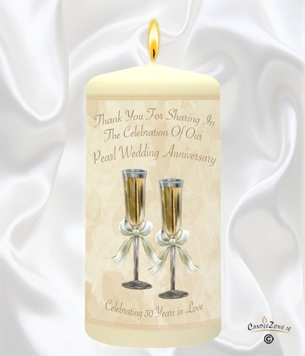 CandleZone.ie30th Wedding Anniversary Favour- Champagne Glasses ...