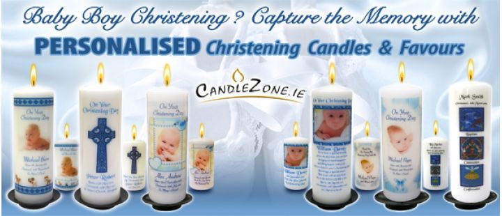 Click Here - Personalised Christening Candles