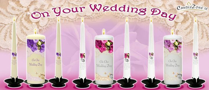Click Here - Personalised Wedding Candles