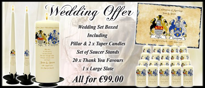 Crest Wedding Candle Offer Package - Click on the above image for further details