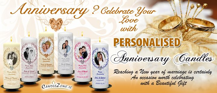 View our Full range of Beautiful Anniversary Candles