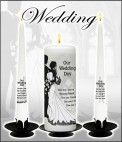 Personalised Wedding Candles  01 4010303