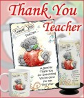 PERSONALISED THANK YOU TEACHER GIFTS CANDLES