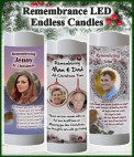 Personalised Christmas remembrance candles