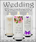 Wedding Remebrance Candles