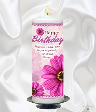 Personalised Birthday Candles for all the Family and Friends Candlezone.ie 01 4010303 Phone Now