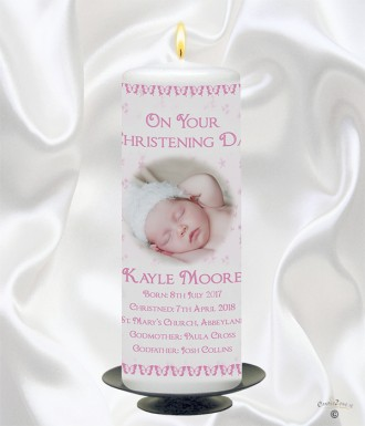 Photo Christening Candle