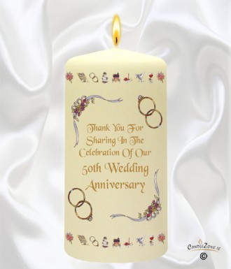 50th Wedding Anniversary Favour Ribbons