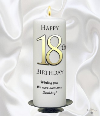 Personalised Birthday Candles 18th Delight Gold