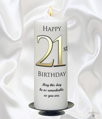 Personalised Birthday Candles 21st Delight Gold