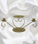 Heart Unity Candle Holder - Gold