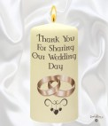 Candle - Wedding Personalised Wedding Candles