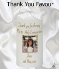 Thank You Communion Photo Favour Candle