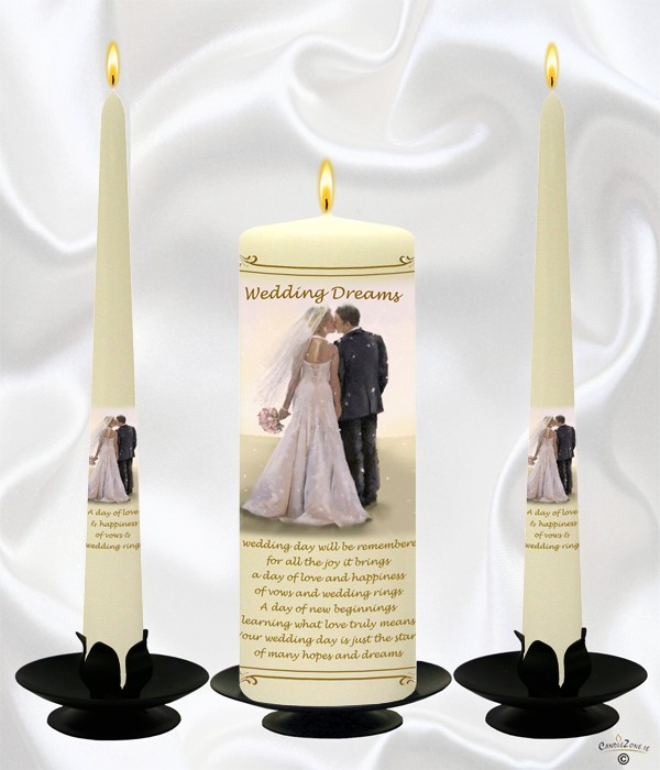 Wedding Dreams Gold Wedding Candles