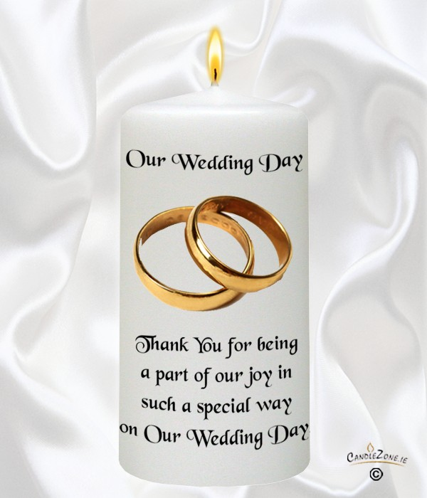Elegant Gold Rings Wedding Favour