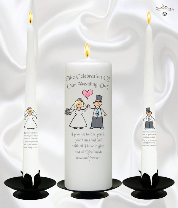 Happy Ever After (Blonde) Wedding Candles