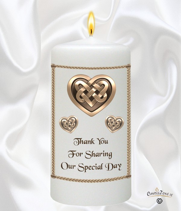 Celtic Heart Gold Wedding Favour