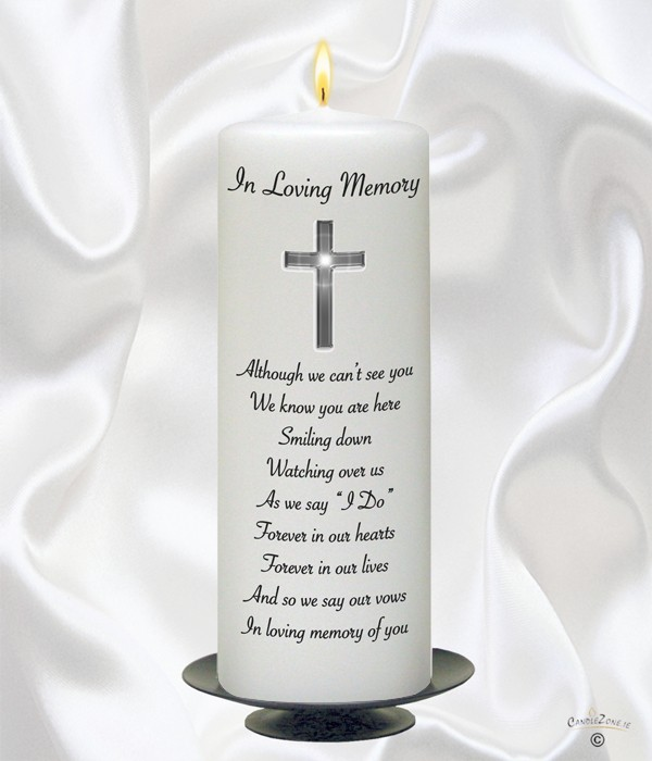 Entwined Silver Rings Wedding Remembrance Candle