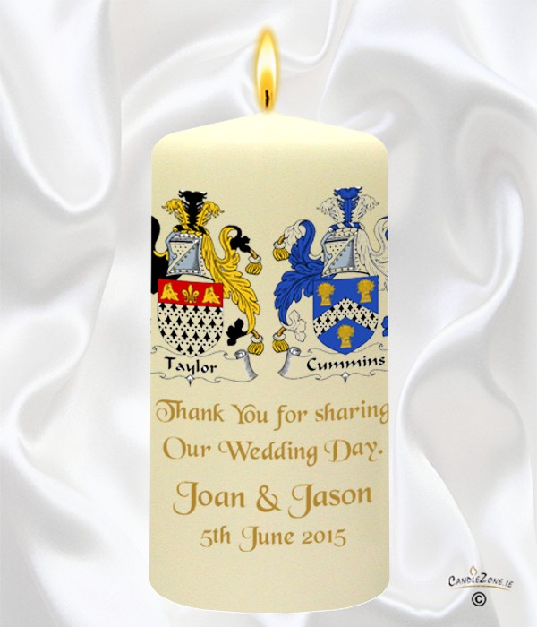 Family Crest Gold Wedding Favour