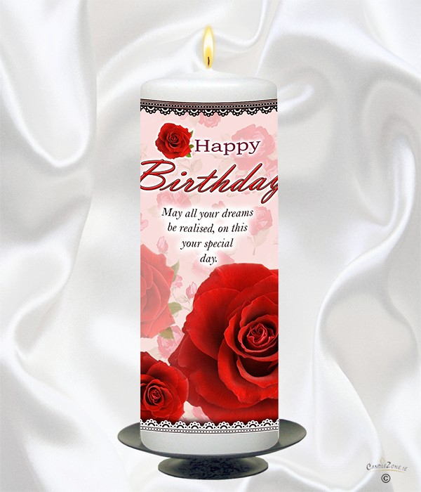 Happy Birthday - Red Rose