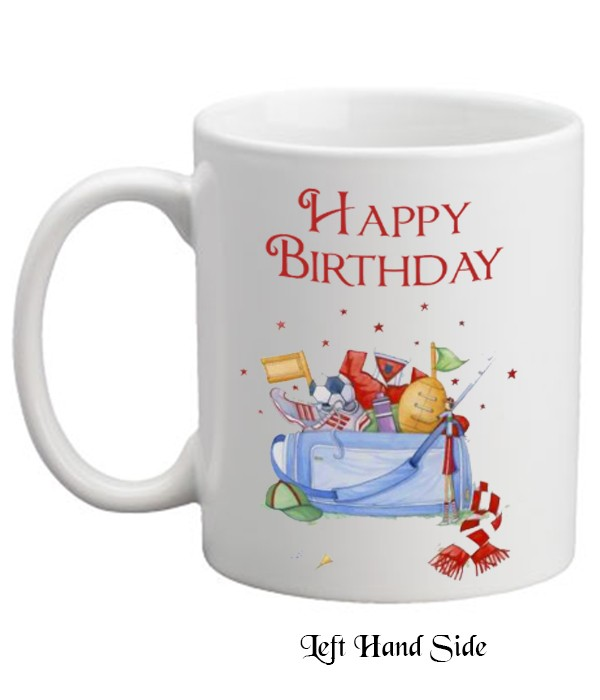 Happy Birthday Sports Bag Personalised Mug