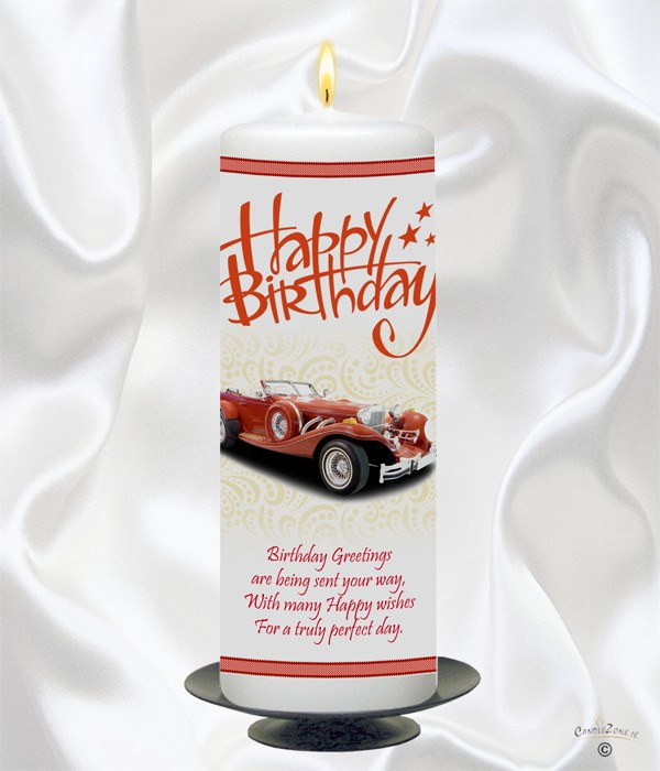 Birthday Red Classic Car