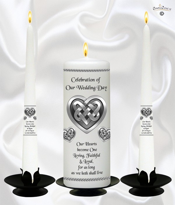 Celtic Heart Wedding Candles