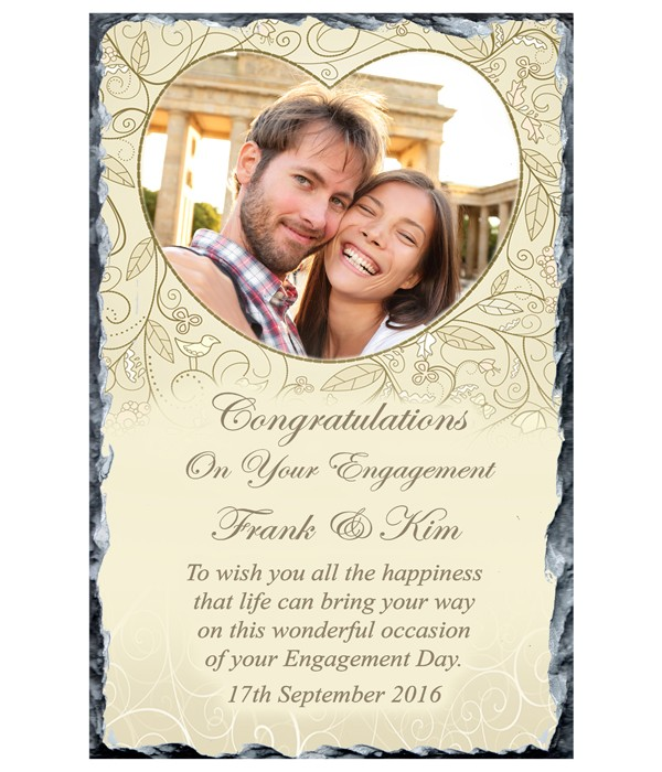 Engagement Love Heart and Photo Slate