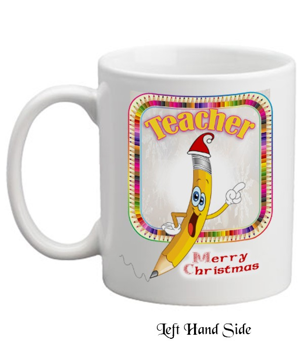Christmas Teacher Pencil Mug