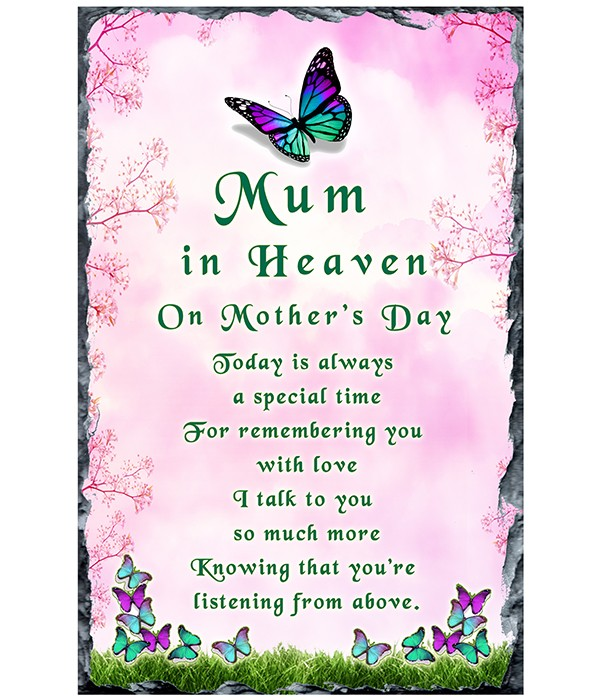 Purple and Green Butterfly - Mothers Day Remembrance Slate