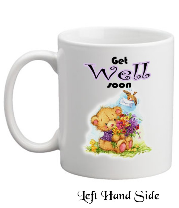 Get Well Soon Teddy & Bouquet Mug