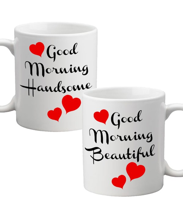 Good Morning Handsome and Good Morning Beautiful Mugs (set of two)