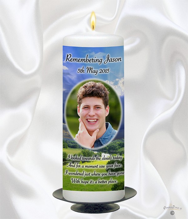 Meadow & Photo Remembrance Candle
