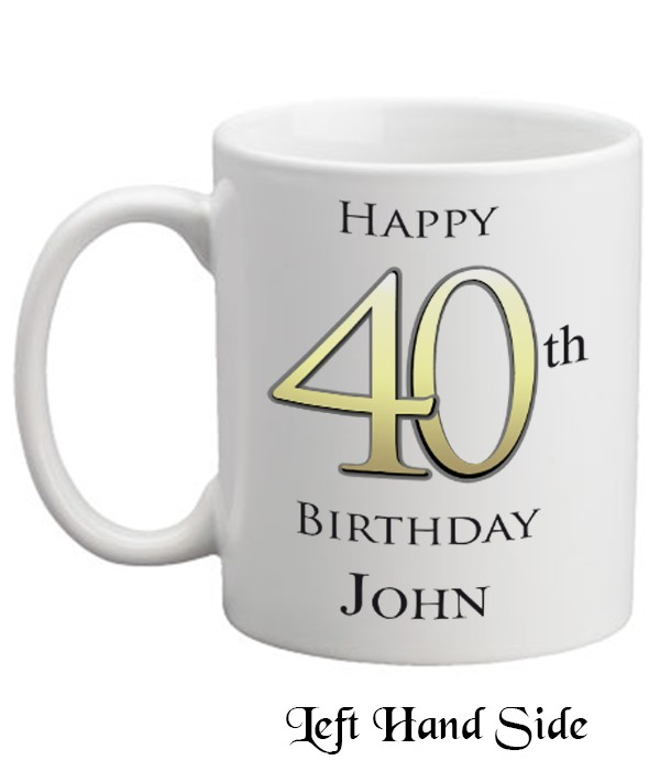 Happy 40th Birthday Personalised Mug