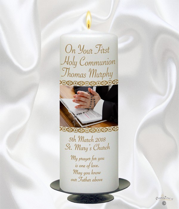 1st Holy Communion Boy Candle