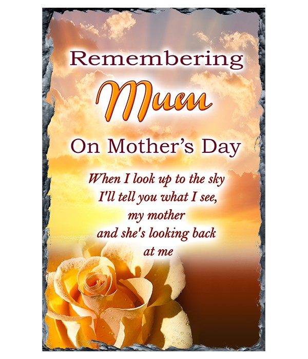 Peach Memories - Mothers Day Remembrance Slate