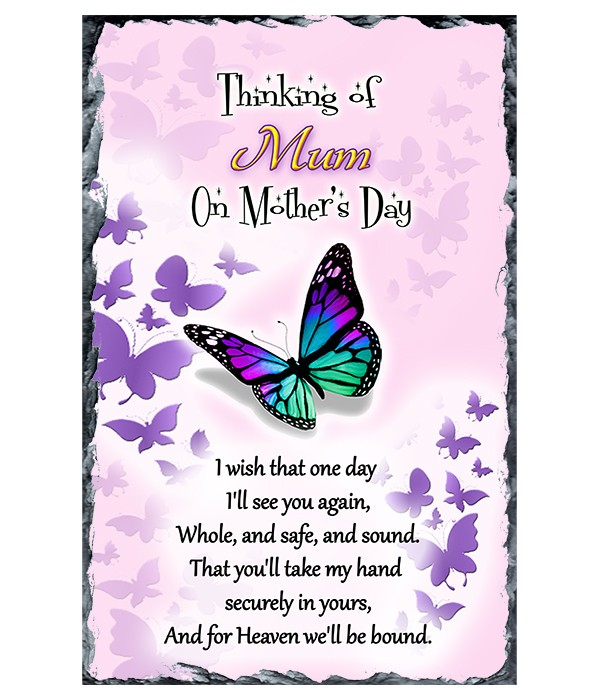 Butterfly Heaven - Mothers Day Remembrance Slate