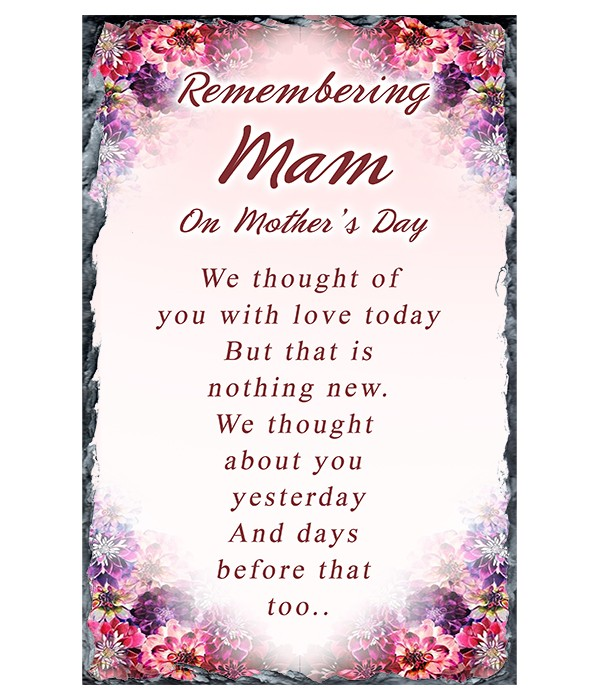 Corner Flower - Mothers Day Remembrance Slate