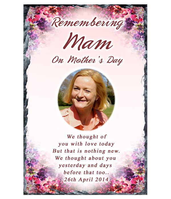 Corner Flower Photo - Mothers Day Remembrance Slate