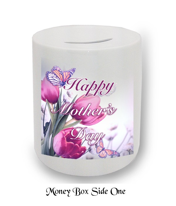 Butterflies & Tulips Mother's Day Money Box