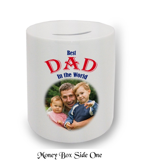 Chequered Flags & Photo Fathers Day Money Box