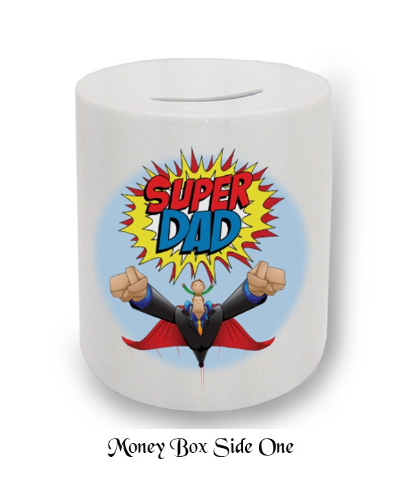 Super Dad Badge Fathers Day Money Box