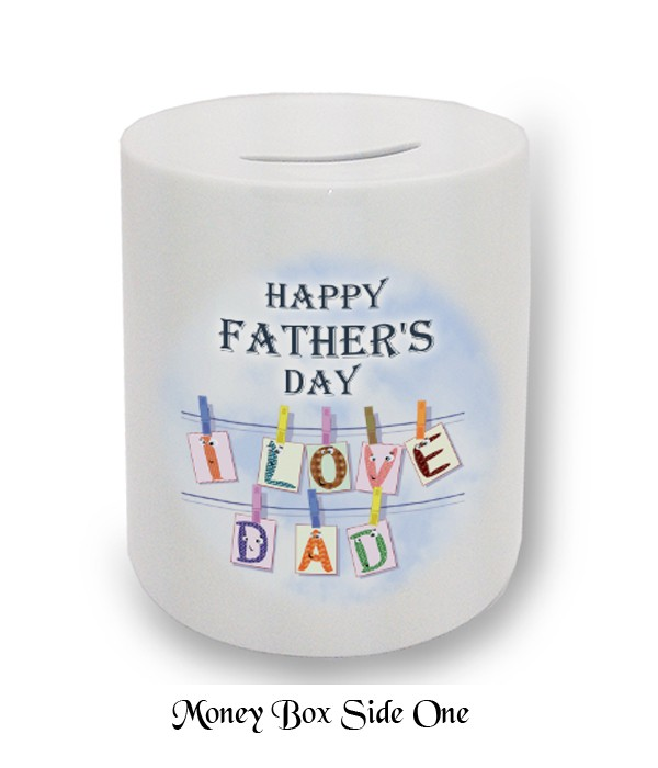 Love Dad Clothes Line Fathers Day Money Box